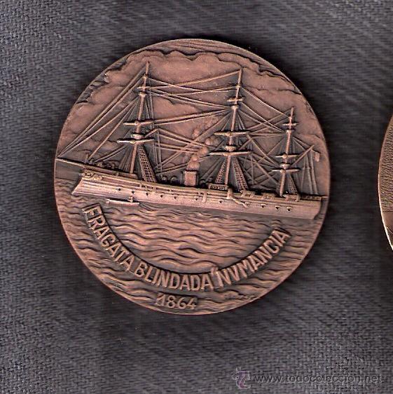 XX SALÓN NÁUTICO. BARCELONA 1982. FRAGATA BLINDADA NUMANCIA 1864. (Numismática - Medallería - Trofeos y Conmemorativas)