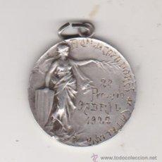 Trofeos y medallas: MEDALLA ASOCIACION DE CAZADORES DE CATALUÑA 2º PREMIO 9 ABRIL 1922,PLATA. Lote 43619973