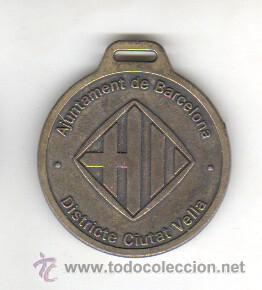 MEDALLA AJUNTAMENT DE BARCELONA DISTRICTA CIUTAT VELLA CASAL MUNICIPAL CURS 2004 (Numismática - Medallería - Trofeos y Conmemorativas)