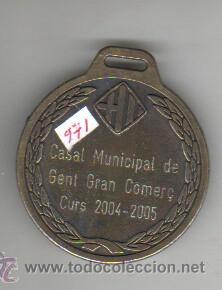 Trofeos y medallas: MEDALLA AJUNTAMENT DE BARCELONA DISTRICTA CIUTAT VELLA CASAL MUNICIPAL CURS 2004 - Foto 2 - 43946862