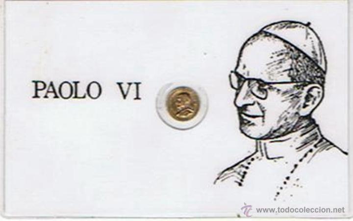 CARNET DE PAOLO VI CON MONEDA CONMEMORATIVA (PLASTIFICADO) (Numismática - Medallería - Trofeos y Conmemorativas)