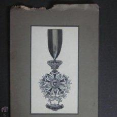 Trofeos y medallas: BOCETO ORIGINAL MEDALLA EXPOSICION FERIA INTER ROMA- SELLO EN SECO J.SANTONJA REUS (V-894). Lote 44007354