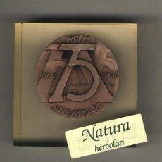 Trofeos y medallas: RAMON FERRAN. REUS. MEDALLA 75 ANIVERSARI ORFEÓ REUSENC. DENTRO DE METACRILATO.. Lote 44244725