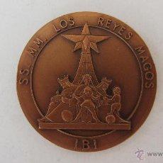 Trofeos y medallas: GRAN MONEDA CONMEMORATIVA DE SS. MM. LOS REYES MAGOS DE IBI 1992. Lote 44337868