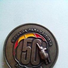 Trofeos y medallas: MEDALLA BRIGADA PARACAIDISTA 50 ANIVERSARIO . Lote 44346298