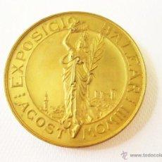 Trofeos y medallas: MEDALLA DE ORO DE LA EXPOSICION BALEAR DE 1903. MUY BUEN ESTADO. Lote 45051914