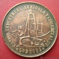 Trofeos y medallas: RARISIMA MEDALLA - CASINO INDUSTRIAL AGRICOLA Y COMERCIAL DE CORDOBA - EXPOSICION DE 1868 . Lote 45104884
