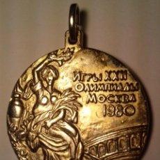 Trofeos y medallas: PRECIOSA MEDALLA - XXII JUEGOS OLIMPICOS MOCKBA 1980 ( MOSCU). Lote 45105129