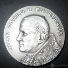 MONEDA MEDALLA CONMEMORATIVA DE LA VISITA DE JUAN PABLO II A CATALUNYA,DE PLATA.