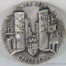 Trofeos y medallas: M-329. MEDALLA EN EN METAL. PLAÇA NOVA. BARCELONA. SIN FECHA. . Lote 45515238