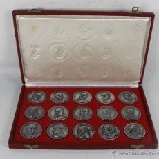 Trofeos y medallas: M-388. COLECCION DE 15 MEDALLAS EN METAL. CON ESTUCHE. FIRMADAS PUJOL. MED S XX. . Lote 45637918