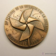 Trofeos y medallas: MEDALLA FESTIVAL INFÀNCIA I JOVENTUT, BARCELONA, AÑO 1993.. Lote 46016948
