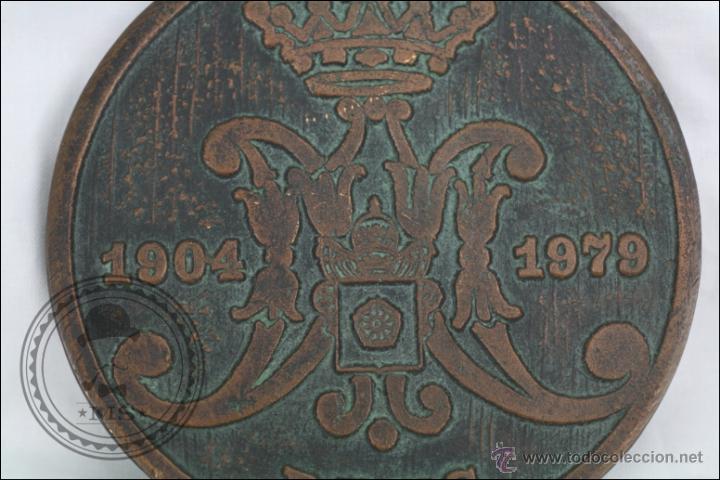 Trofeos y medallas: Medalla de Bronce 75 Aniversari Coronació Verge de Misericordia, 1904-1979, Reus - Medida 11 Cm Diám - Foto 4 - 46164635