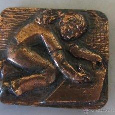Trofeos y medallas: MEDALLA DE BRONCE V FESTIVAL INFANTIL DE DIBUIX SABADELL 1978. Lote 46245631