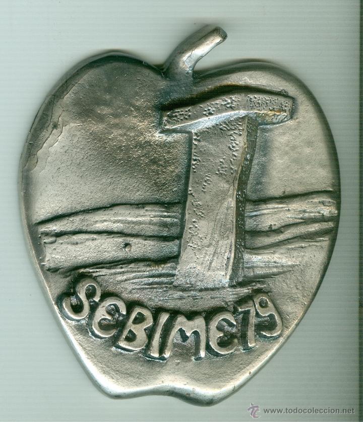 MEDALLA/PISAPAPELES CONMEMORATIVO SEBIME 1979 MAHÓN MENORCA (Numismática - Medallería - Trofeos y Conmemorativas)