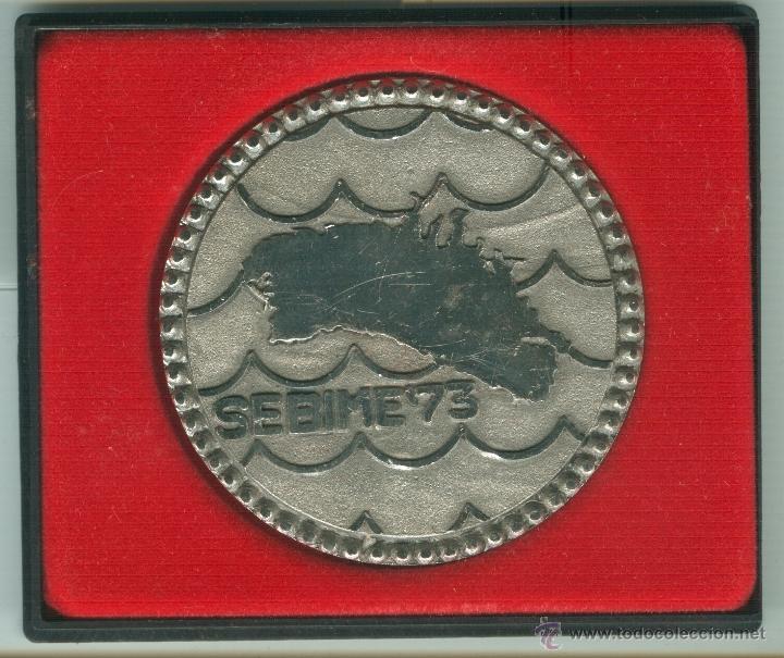 MEDALLA/PISAPAPELES CONMEMORATIVO SEBIME 1973 MAHÓN (MENORCA) (Numismática - Medallería - Trofeos y Conmemorativas)
