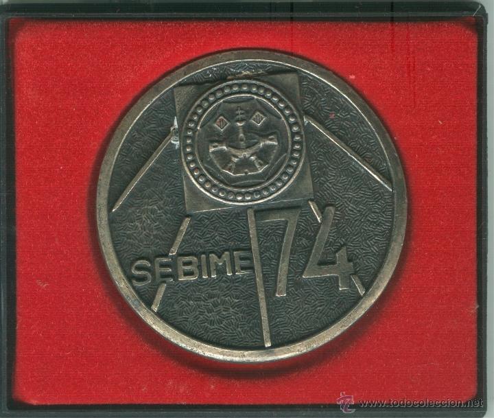 MEDALLA/PISAPAPELES CONMEMORATIVO SEBIME 1974 MAHÓN (MENORCA) (Numismática - Medallería - Trofeos y Conmemorativas)