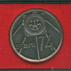 Trofeos y medallas: MEDALLA/PISAPAPELES CONMEMORATIVO SEBIME 1974 MAHÓN (MENORCA). Lote 46542374