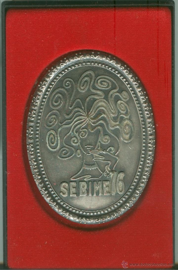 MEDALLA/PISAPAPELES CONMEMORATIVO SEBIME 1976 MAHÓN (MENORCA) (Numismática - Medallería - Trofeos y Conmemorativas)