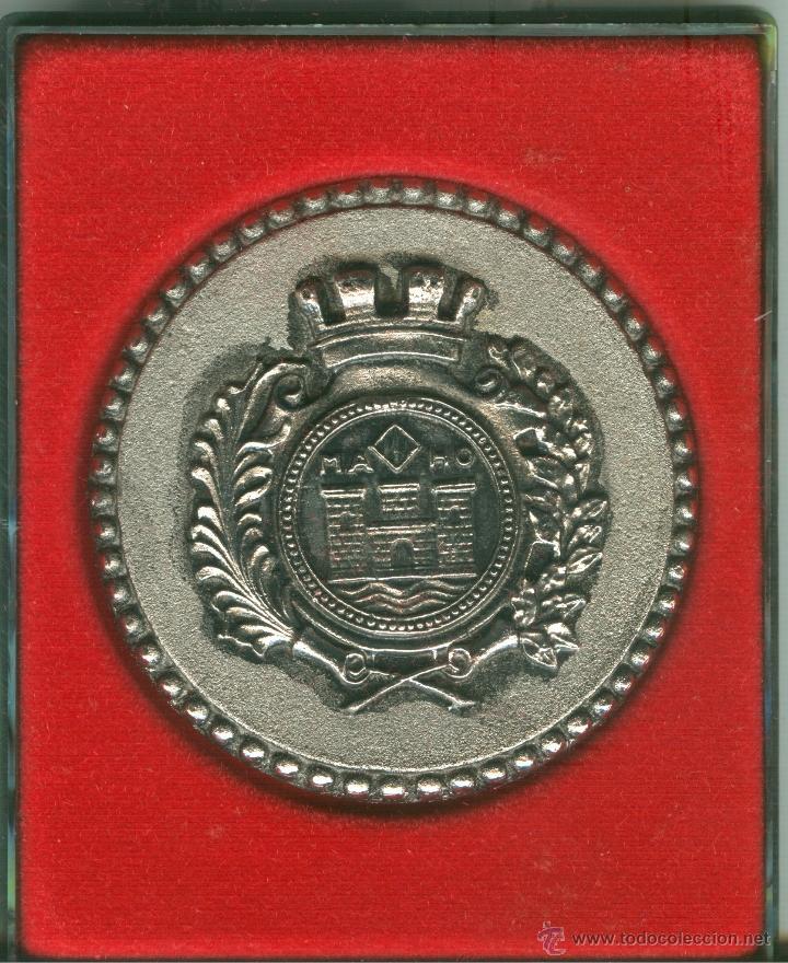 MEDALLA/PISAPAPELES CONMEMORATIVO FIESTAS Nª SRA. DE GRACIA 1972 MAHÓN (MENORCA) (Numismática - Medallería - Trofeos y Conmemorativas)
