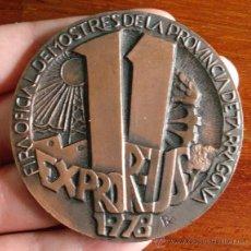 Trofeos y medallas: MEDALLA CONMEMORATIVA FIRA DE MOSTRES DE LA PROVINCIA TARRAGONA EXPO 1978. Lote 46599338