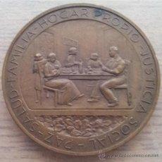 Trofeos y medallas: ANTIGUA MEDALLA EN BRONCE PRIMER CONGRESO PANAMERICANO DE LA VIVIENDA POPULAR 1939. Lote 46620575