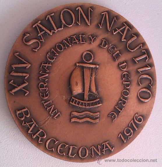 Trofeos y medallas: GRAN LOTE MEDALLAS SALON NAUTICO INTERNACIONAL Y DEL DEPORTE BARCELONA 1976, 1977 Y 1978 COBRE - Foto 2 - 46869385