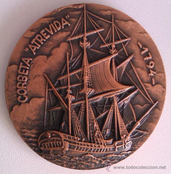 Trofeos y medallas: GRAN LOTE MEDALLAS SALON NAUTICO INTERNACIONAL Y DEL DEPORTE BARCELONA 1976, 1977 Y 1978 COBRE - Foto 3 - 46869385
