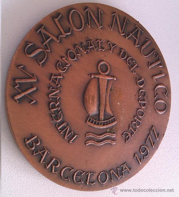 Trofeos y medallas: GRAN LOTE MEDALLAS SALON NAUTICO INTERNACIONAL Y DEL DEPORTE BARCELONA 1976, 1977 Y 1978 COBRE - Foto 5 - 46869385