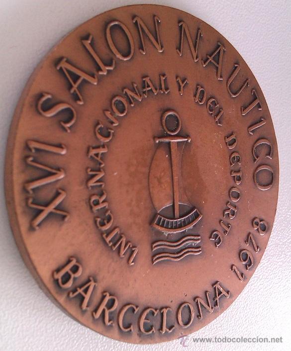 Trofeos y medallas: GRAN LOTE MEDALLAS SALON NAUTICO INTERNACIONAL Y DEL DEPORTE BARCELONA 1976, 1977 Y 1978 COBRE - Foto 8 - 46869385