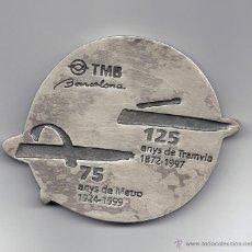 Trofeos y medallas: MEDALLA COMMEMORATIVA 125 ANYS TRAMVIA-75 ANYS METRO BARCELONA. Lote 46984810