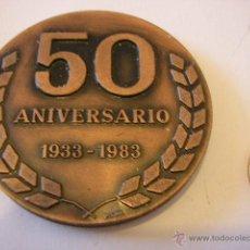 Trofeos y medallas: MEDALLA COBRE 50 ANIVERSARIO CONDUCTORES. Lote 47197324