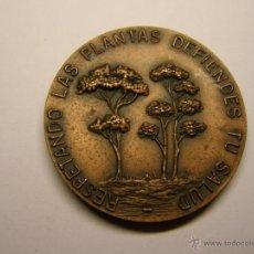 Trofeos y medallas: MEDALLA PLANTAS, DISTRITO III, JUNTA MUNICIPAL, BARCELONA, AÑO 1972. . Lote 47387462