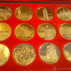 Trofeos y medallas: COLECCION 12 MEDALLAS-MONEDAS PAISES MIEMBROS DE LA CEE.. Lote 79677409