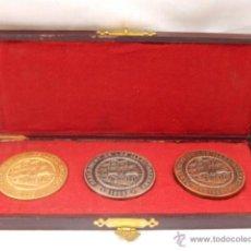 Trofeos y medallas: MEDALLA DE ORO, PLATA Y BRONCE. PARLAMENT DE LES ILLES BALEARS. EN SU ESTUCHE.. Lote 48108202