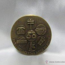 Trofeos y medallas: MEDALLA CONMEMORATIVA TELEFÓNICA QUINQUAGÉSIMO ANNO SERVITII 1975. Lote 83123892
