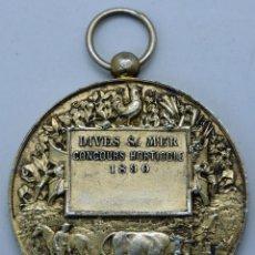 Trophées et médailles: MEDALLA FRANCESA CONCOURS HORTICOLE DIVES SUR MER FRANCE 1890. Lote 48492327
