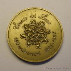 Trofeos y medallas: MEDALLÓN CONMEMORATIVO, CÍRCULO DEL LICEO, 150 ANIVERSARIO. BARCELONA. AÑOS 1847-1997.. Lote 48979269