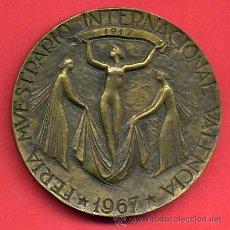 Trofeos y medallas: MEDALLA FERIA MUESTRARIO 1967 ,CINCUENTENARIO DE LA FUNDACION , GRANDE , VALENCIA , ORIGINAL , Q. Lote 48997505