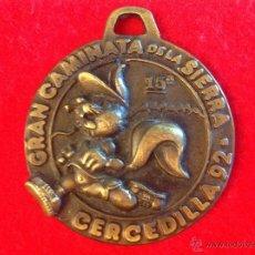 Trofeos y medallas: GRAN MEDALLA DE LA 15 GRAN CAMINATA DE LA SIERRA, CERCEDILLA 92, AYUNTAMIENTO DE CERCEDILLA.. Lote 49175905