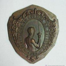 Trofeos y medallas: FEDERACION DE ESGRIMA DE CATALUÑA 1922. Lote 49247917