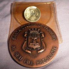 Trofeos y medallas: SANTA COLOMA DE FARNES - SALVADOR ESPRIU - AÑO 1983.. Lote 49318907