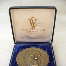Trofeos y medallas: MEDALLA ANIVERSARIO DE SOGRAPE VINOS DE PORTUGAL, FUNDADOR FERNANDO VAN ZELLER, 1942 - 1992. Lote 49521668