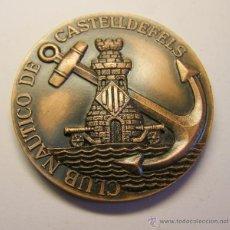 Trofeos y medallas: MEDALLA CONMEMORATIVA CASTELLDEFELS, AÑO 1972. CLUB NAÚTICO. ESQUÍ NAÚTICO.. Lote 49525119