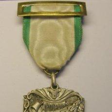 Trofeos y medallas: MEDALLA ESCOLAR APLICACIÓN, TRABAJO DE VACACIONES, COLEGIO BONANOVA LA SALLE. BARCELONA. AÑO 1957.. Lote 49528232