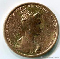 Trofei e Medaglie: IMPERIO AUSTRIACO. MEDALLA DE BRONCE, 46MM DE DIAMETRO. MARIA ANNA DE SABOYA. 1836. Lote 49962928
