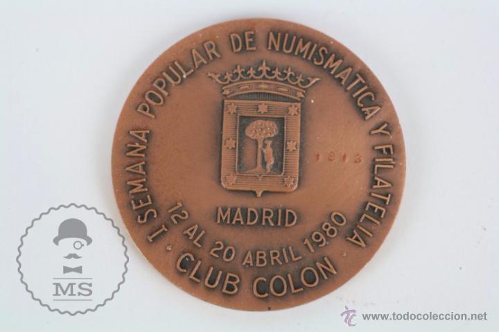 Trofeos y medallas: Medalla I Aniversario Ayuntamientos Democráticos, Madrid - I Semana Popular Numismática... - Foto 2 - 49993419