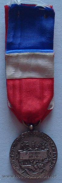 MEDALLA DE LA REPÚBLICA FRANCESA P.PIERRE 1970 (Numismática - Medallería - Trofeos y Conmemorativas)