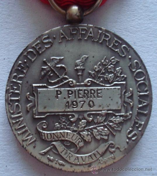 Trofeos y medallas: MEDALLA DE LA REPÚBLICA FRANCESA P.PIERRE 1970 - Foto 3 - 50172422