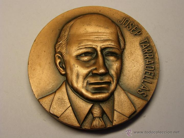 MEDALLA DE JOSEP TARRADELLAS, PRESIDENTE DE LA GENERALITAT. (Numismática - Medallería - Trofeos y Conmemorativas)